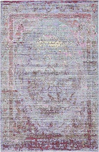 - Unique Loom Austin Collection Casual Vintage Traditional Violet Area Rug (5' 0 x 8' 0)