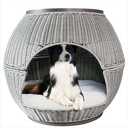 - The Refined Canine's Igloo Deluxe Pet Bed (Smoke)