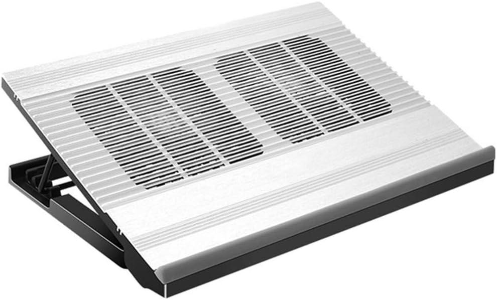 Refrigerador del Ordenador portátil de Aluminio Ventilador de pie Base Gaming Notebook Silencio kyman
