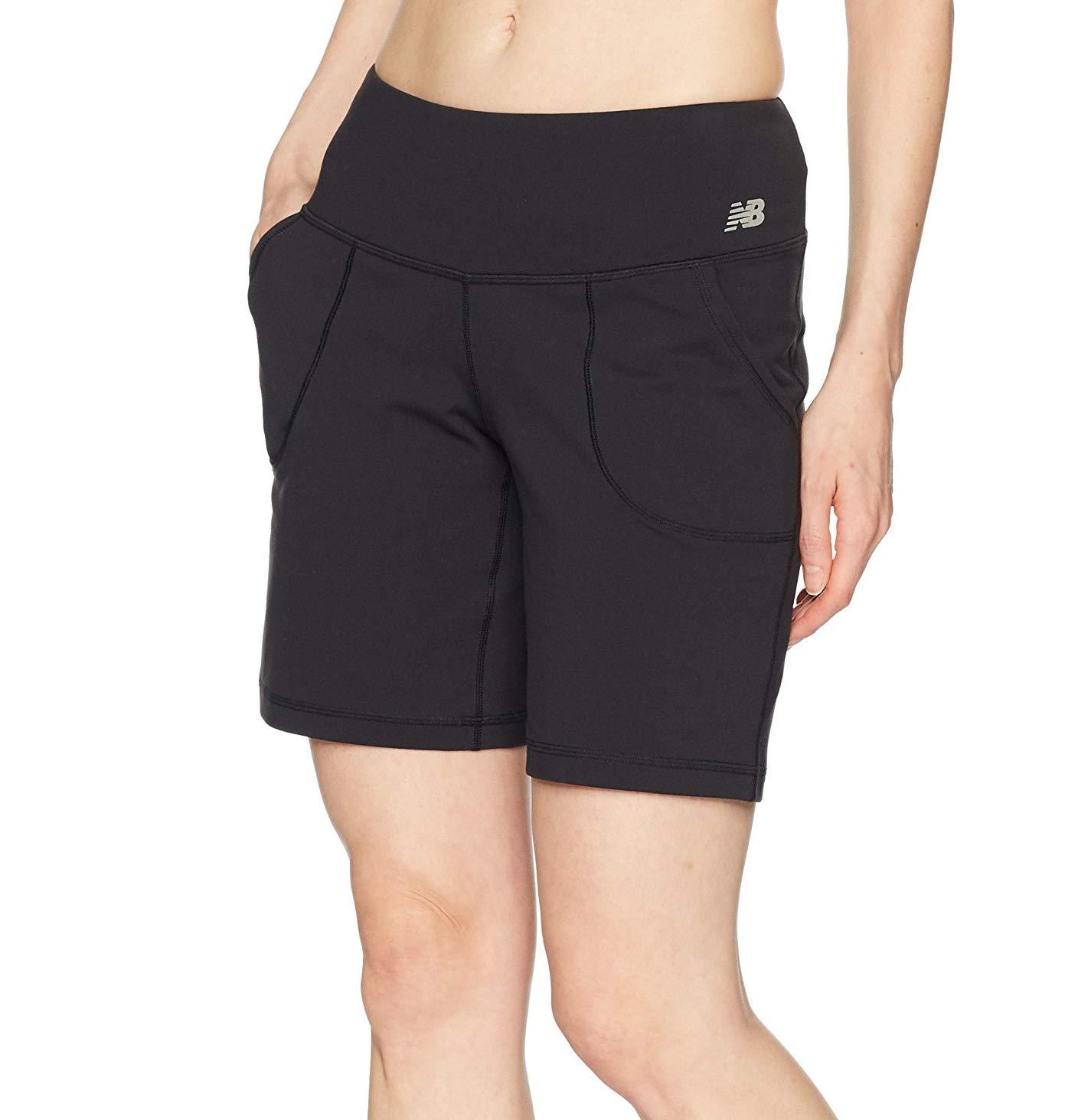 New Balance Women's Premium Performance 8-Inch Shorts, Black, Small by New Balance