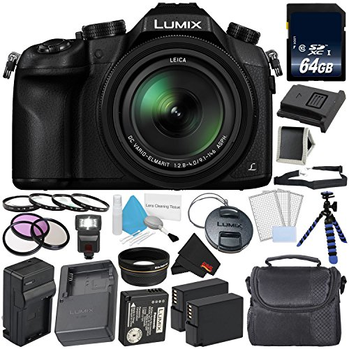 Panasonic Lumix DMC-FZ1000 Digital Camera 4K Point and Shoot Camera, 16X Leica DC Vario-Elmarit Zoom Lens Platinum Level Bundle