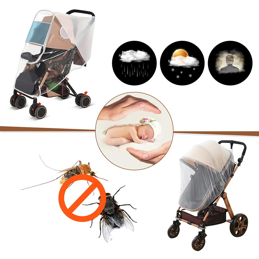 LEMESO Stroller Baby Net for Infant Carriers Car Seats Cradles Cribs Bassinet Playpen Travel Outdoor Universal /& Elastic /& Breathable