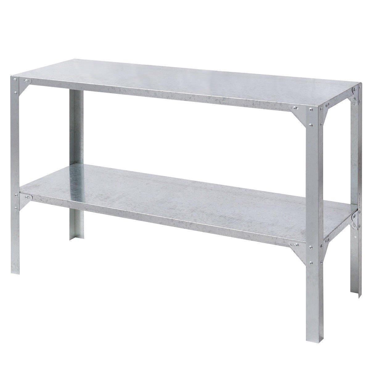 Surprising Amazon Com Potting Table Storage Shelves Galvanized Steel Creativecarmelina Interior Chair Design Creativecarmelinacom