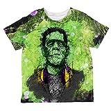 young frankenstein merchandise - Halloween Frankenstein Raver Horror Movie Monster All Over Toddler T Shirt Multi 2T