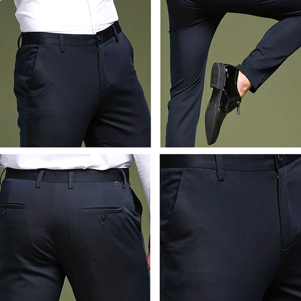 2b253714f28c1 ADELINA Pantalones De Negocios para Hombres Pantalones De Ropa Traje para  Boda De Cuidado Sencillo Pantalones De Chándal Chinos Pantalones De Trabajo  De ...
