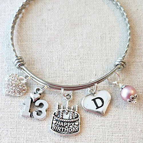 13th BIRTHDAY GIRL Bracelet Happy Birthday Charm Teenage Daughter Gift Ideas