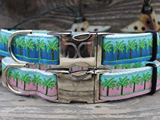 product image for Diva-Dog 'South Beach' Pink or Blue Custom Engraved Dog Collar