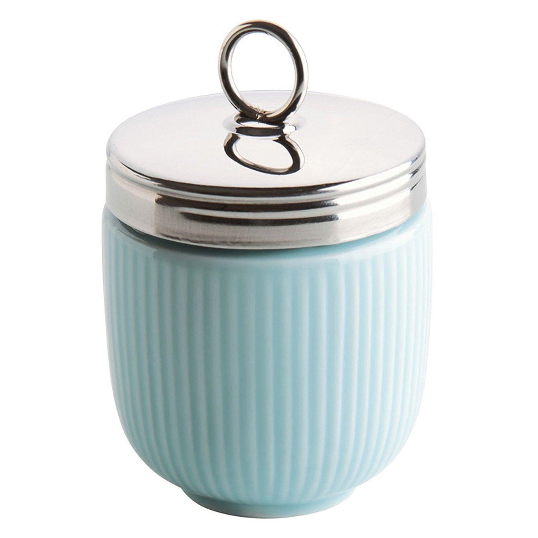 BIA colore blu cuoci uovo in ceramica celadon scanalata