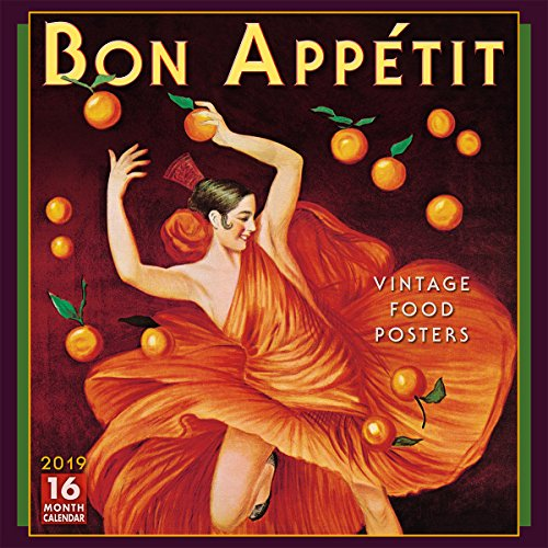 2019 Bon Appétit - Vintage Poster Art 16-Month Wall Calendar: by Sellers Publishing, 12 x 12; - Fanatic Wall