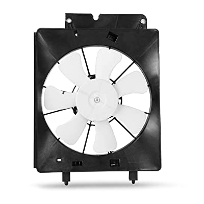 AC Condenser Cooling Fan Assembly For 2002 2003 2004 2005 2006 Honda CR-V Element 2.4l L4 ATRDF015: Automotive