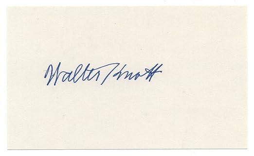 amazon com walter knott d 1981 signed 3x5 index card creator of