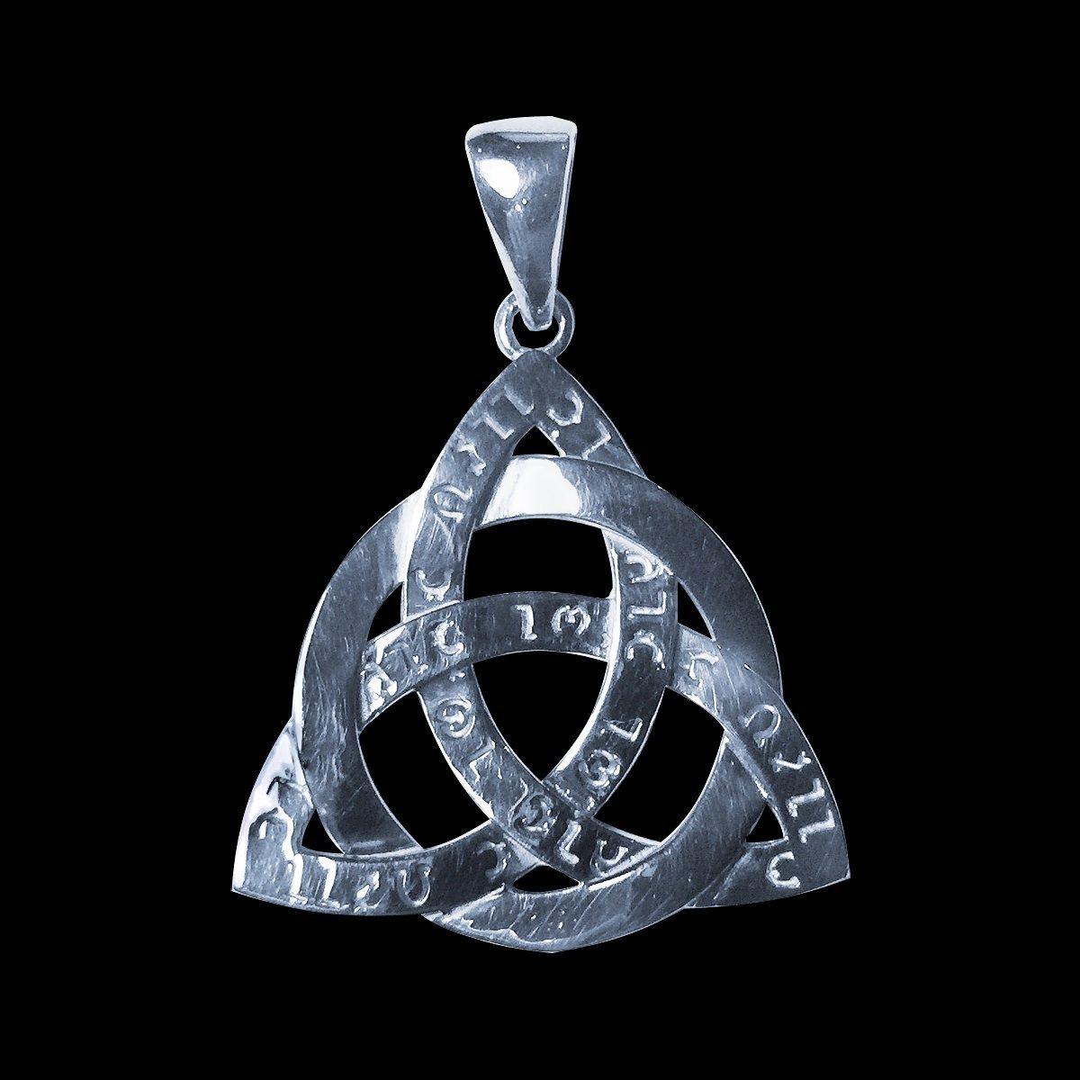 Amulett-keltische Knoten-Triquetra Antike Energien-Kraft Trinity Silber Sterling