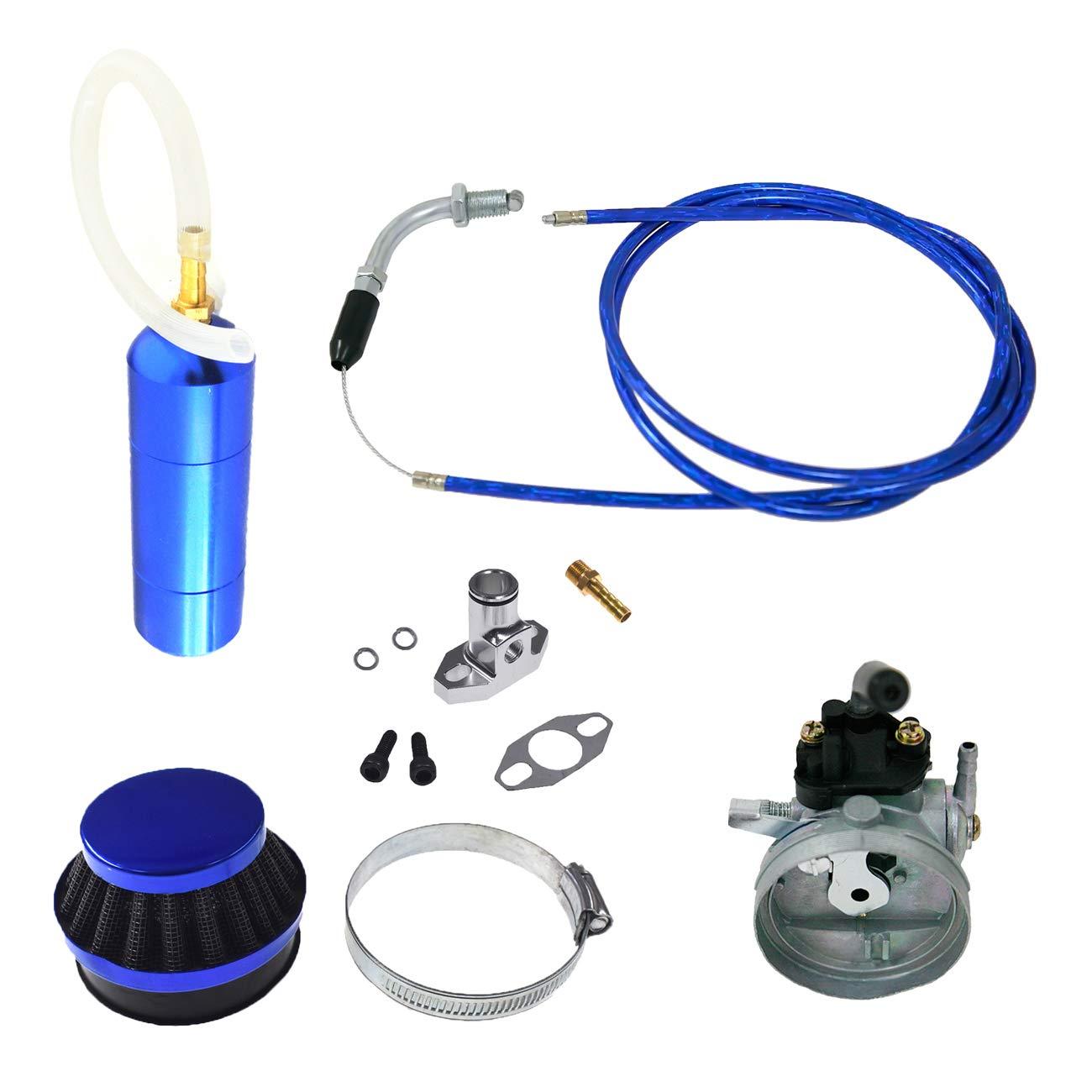 NORTHTIGER Blue Carburetor&Power Boost Bottle&Air Filter Fit 49/60/66/80cc Motorized Bike by NORTHTIGER