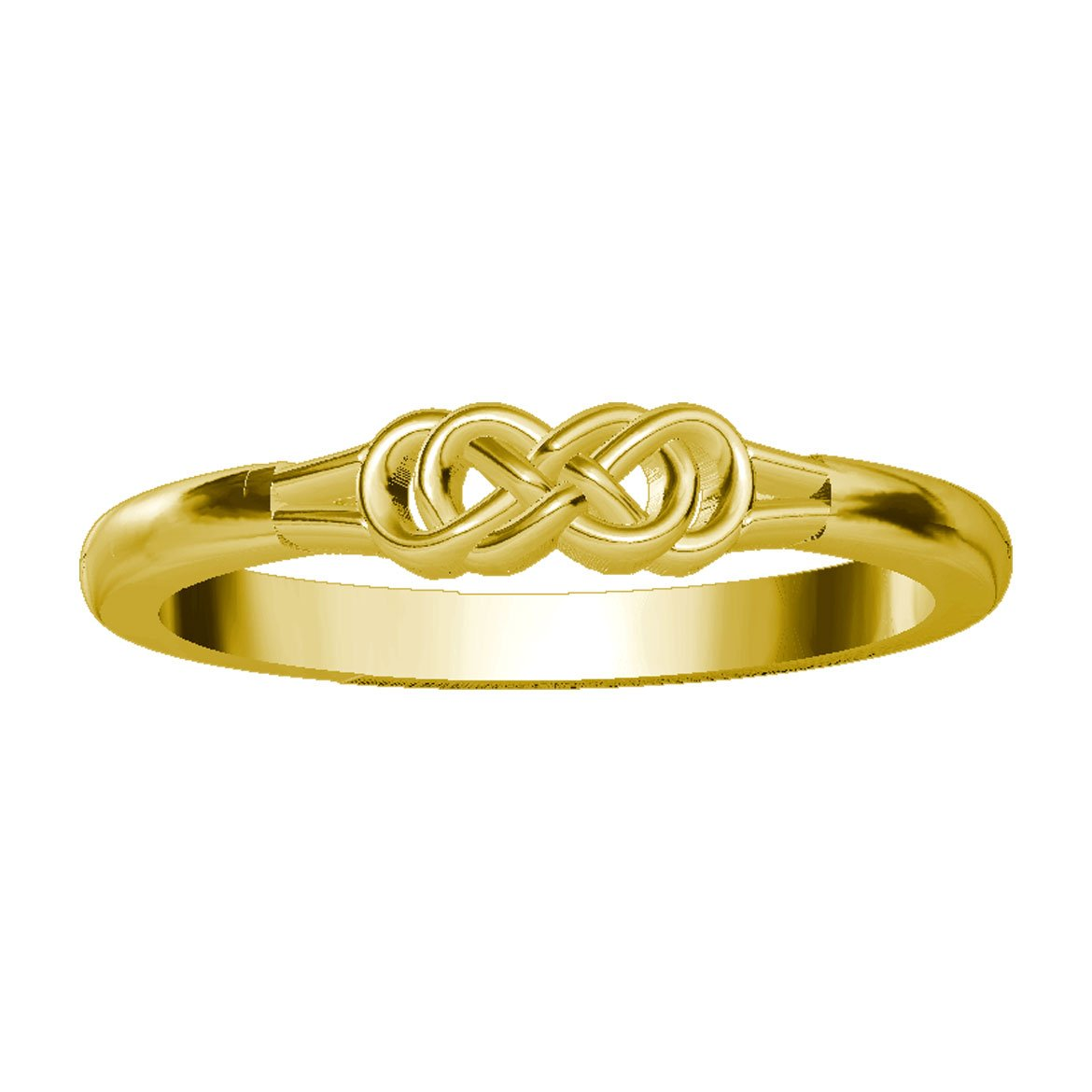 Infinity Ring Endless Love in 14K Yellow Gold size 4.5