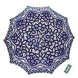 TopTie Antiqued Battenburg Lace Parasol Bridal Umbrella Wedding Prop Decoration NAVY
