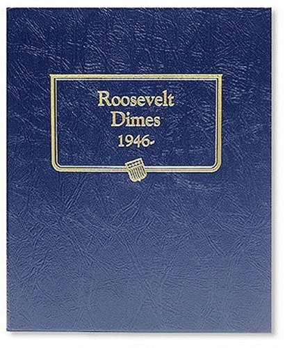Whitman US Roosevelt Dime Coin Album 1946 - Date #3394 ()