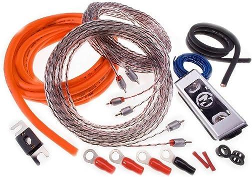 Memphis Car Audio 17-0GKIT 0 Gauge Amplifier Installation Kit w// RCA Cable New