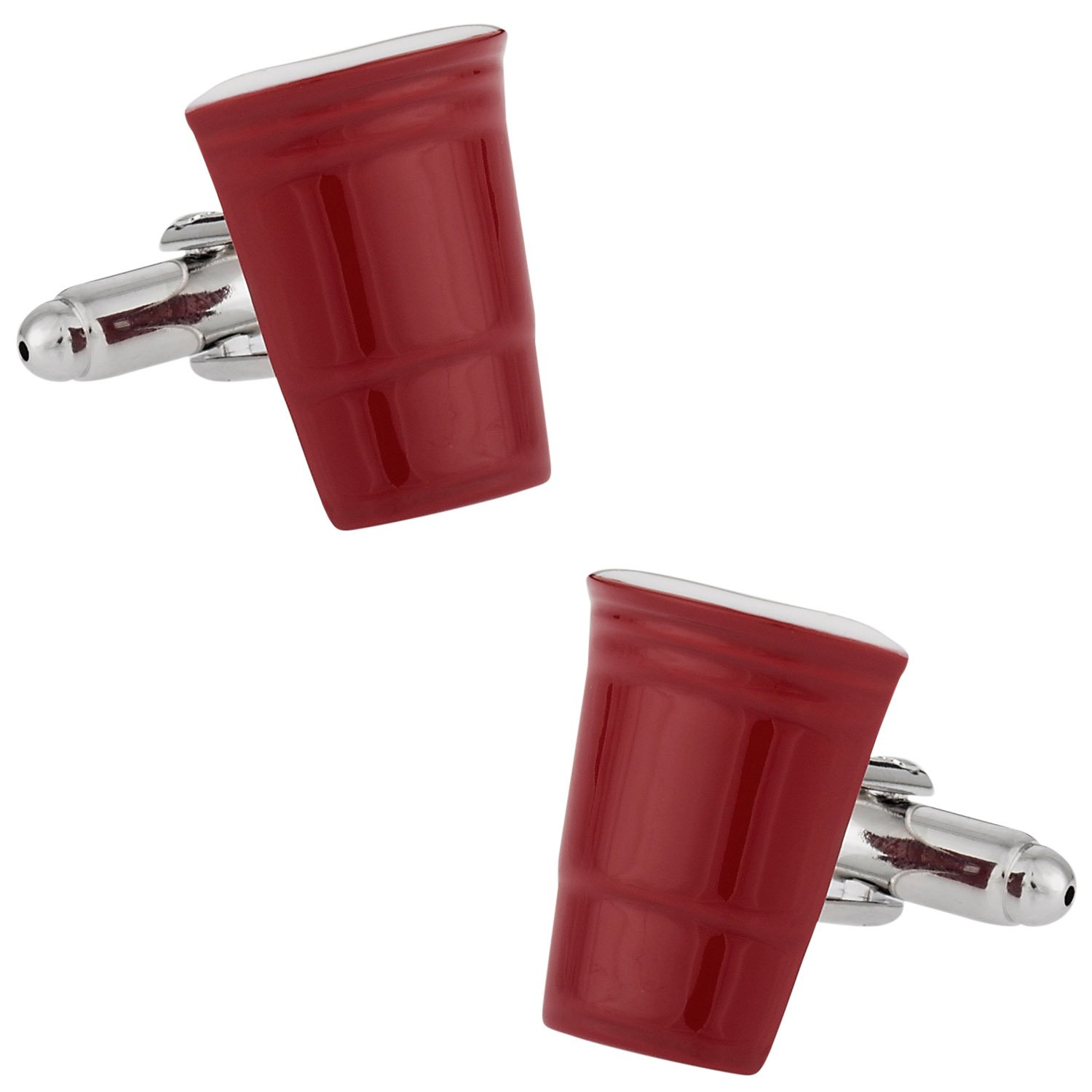 Beer Pong Red Party Cup College Beer Drinking Cufflinks with Presentation Box