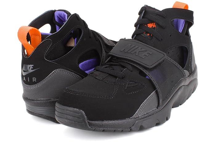 85ecc549ceb3 Amazon.com  Nike Air Trainer Huarache Mens Cross Training Shoes 679083-018 Black  Persian Violet-Hot Lava-Anthracite 10 M US  Sports   Outdoors