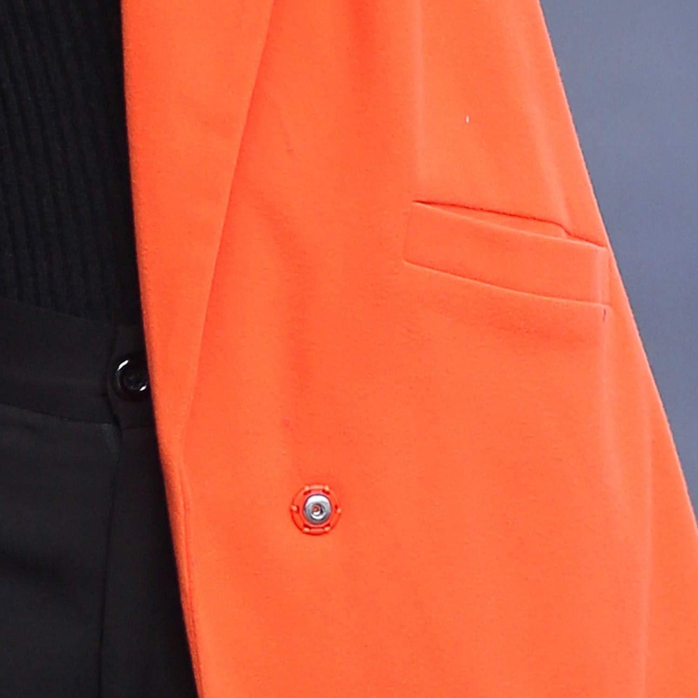 Souiey-shop Women Autumn Winter Wool Blend Warm Long Coat Adjustable Waist Slim Fit Woolen Coat,Gray,M