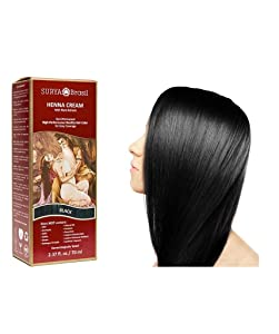 Surya Brasil Products Henna Cream, Black, 2.37 Fluid Ounce