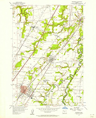 Oregon Maps |1956 Woodburn, OR USGS Historical Topographic Map |Fine Art Cartography Reproduction - Woodburn Oregon Of Map