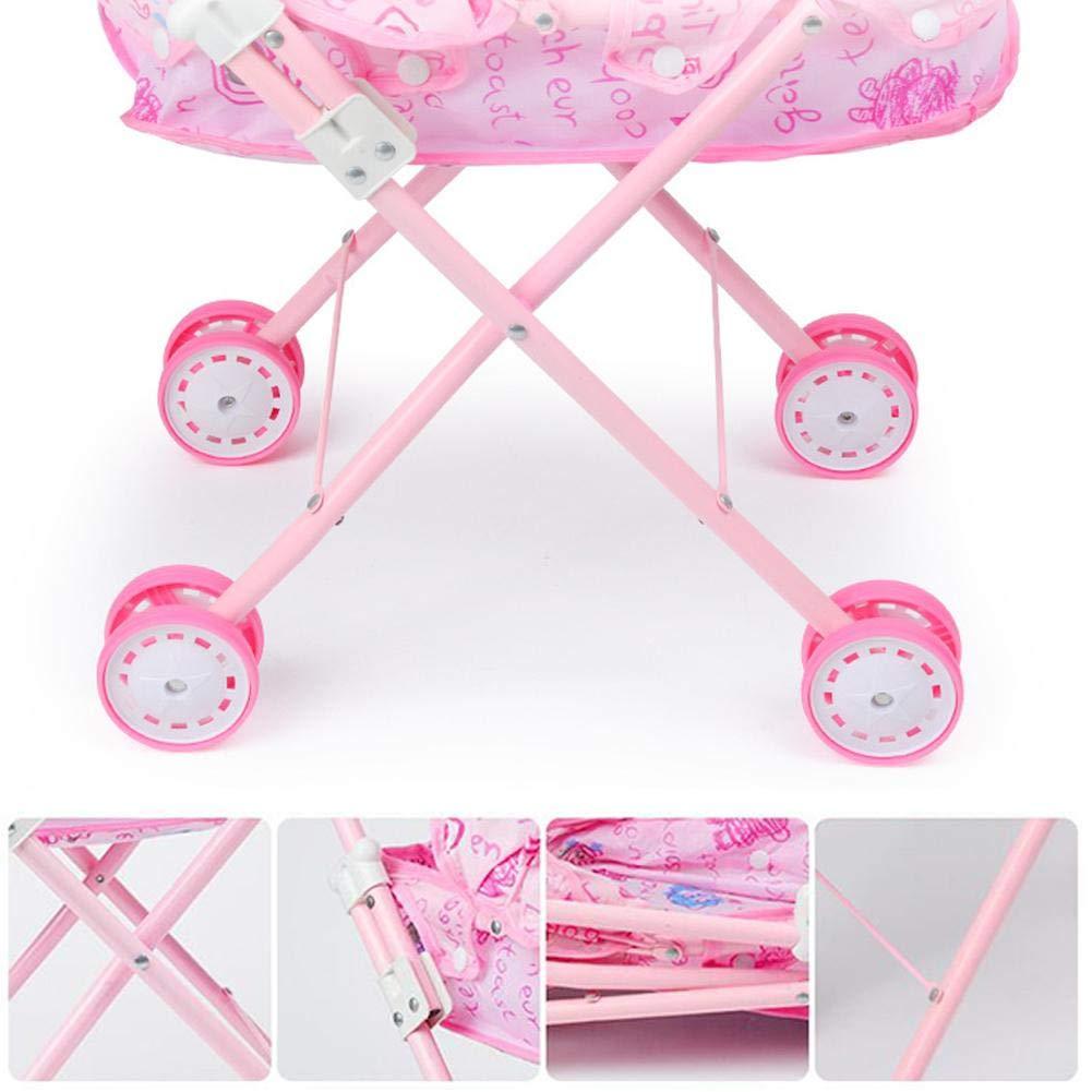 perfecthome Carrito de Juguete para niños Infantil del bebé de la muñeca del Carro del Cochecito Plegable con la muñeca Barbie para muñeca: Amazon.es: Hogar