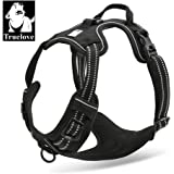 TrueLove Dog Harness TLH5651 No-pull Reflective Stitching Ensure Night Visibility, Outdoor Adventure Big Dog Harness Perfect Match Puppy Vest (Black,M)
