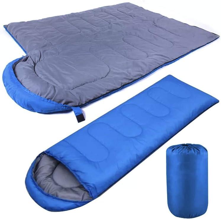 10 20 °C 190x75cm Sac de couchage enfant adulte 2 personnes