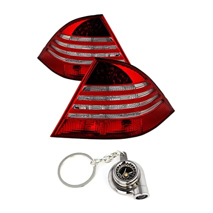 Mercedes Benz W220 S-Class LED Tail Lights Red And Clear Lens+Free Gift Key  Chain Spinning Turbo Bearing