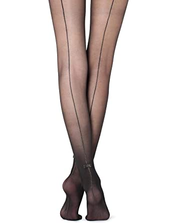 4842468fa Calzedonia Womens Tights with glitter back seam Party Collection   Amazon.co.uk  Clothing