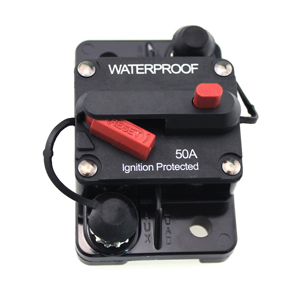 MagiDeal 50 Amp Manual Reset Circuit Breaker 12v/24v Boat Accessory Trolling Motor