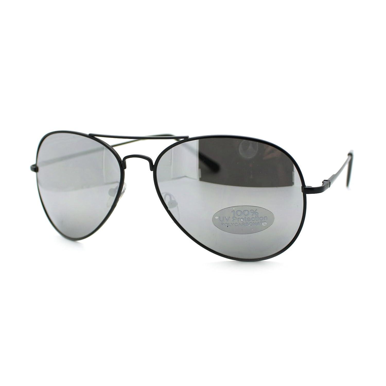 Mens Retro Wire Rim Reflective Mirror Lens Motorcycle Cop Sunglasses