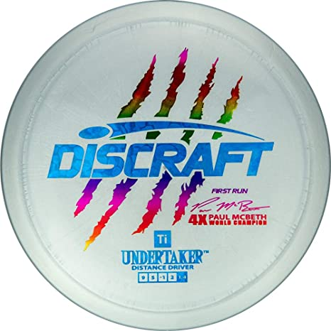 b662a23eda2 Discraft Limited Edition First Run Paul McBeth Signature Titanium  Undertaker Distance Driver Golf Disc  Colors