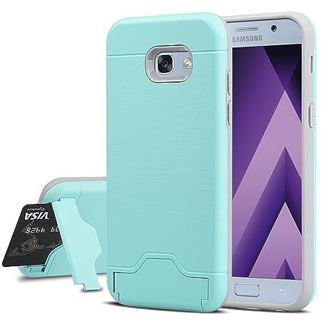 74e99cac82b Samsung Galaxy A5 2017 Funda, echoTREE 2en1 TPU Suave Silicona Carcasa  [Rugged Armor] Protección Integral Elástico ...