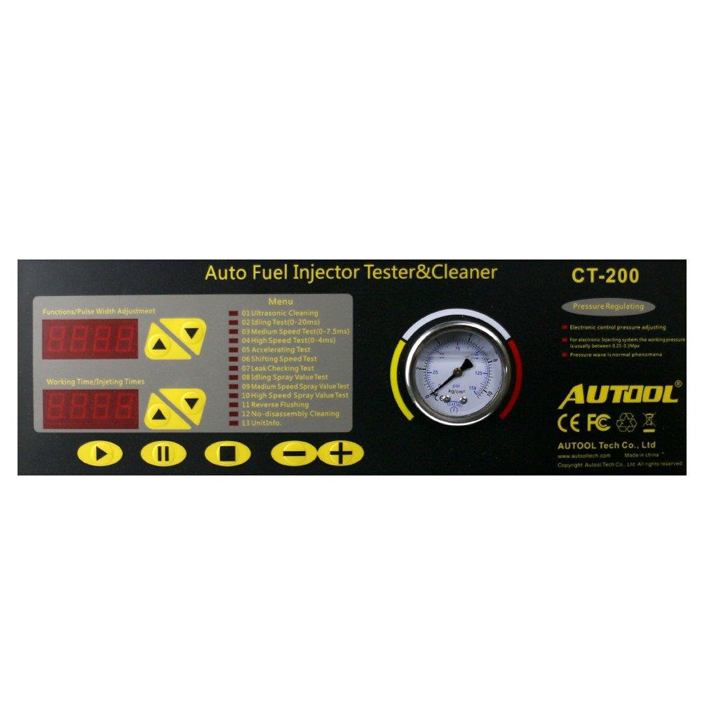 Autool CT200 Inyector de Combustible limpiador y comprobador 110 V mismo como Launch CNC602 A Automotive combustible herramientas de limpieza: Amazon.es: ...