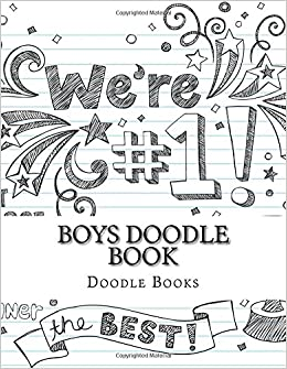 Amazoncom Boys Doodle Book Activity Drawing Coloring Books 85 X 11 Sketchpads Blank