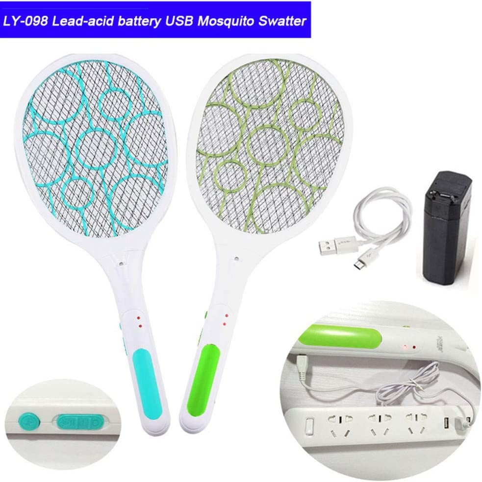 de Alta Voltaje Folewr-8 8 USB Raqueta antimosquitos el/éctrica Recargable para Mosquitos Insectos con Red de Malla Safe to Touch