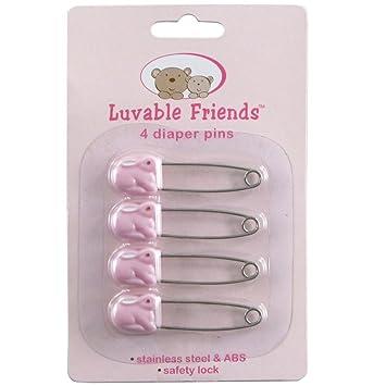 Amazon.com: luvable friends 4 unidades de pañales pins ...