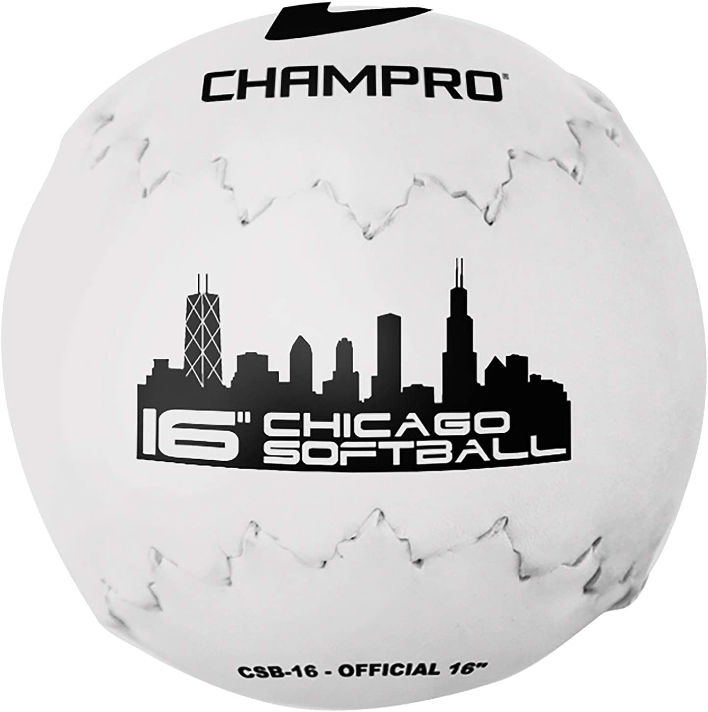 Champro Chicago Softball (White, 16-Inch) : Slow Pitch Softball Bats : Sports & Outdoors