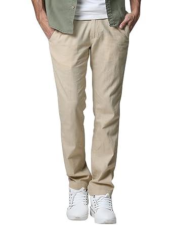 4e666e6baee Match Men s Slim Tapered Linen Casual Pants  8059 at Amazon Men s ...