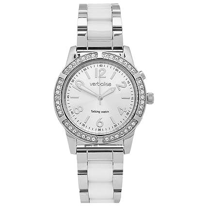 Verbalise - Reloj de pulsera para mujer con cristales de Swarovski y correa de cerámica
