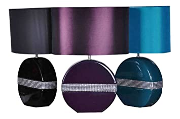 Ceramic table lamp 40cm aubergine black teal white colour white ceramic table lamp 40cm aubergine black teal white colour white amazon kitchen home mozeypictures Image collections