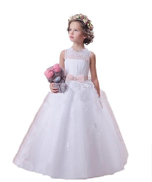 VIPbridal Los niños vestidos de niña vestido de primera comunión desfile (8)