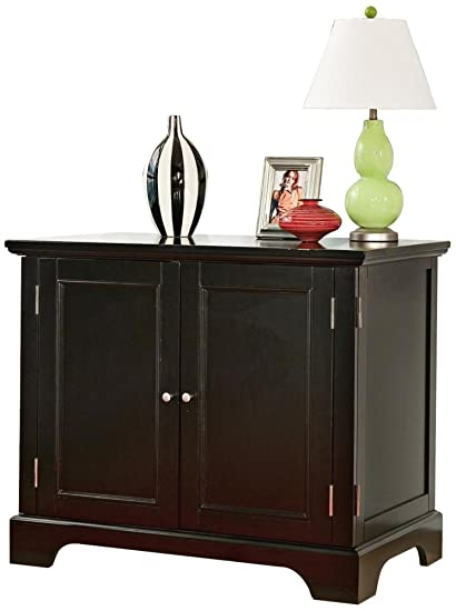 compact office cabinet. Home Style 5531-19 Bedford Compact Office Cabinet, Black Cabinet