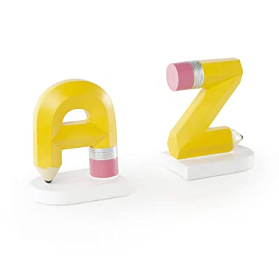 Guidecraft Alphabet A to Z Hand Painted Bookends