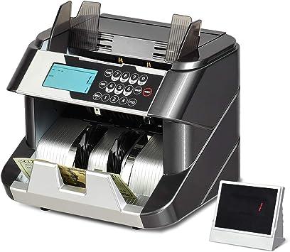 f/ür Euroscheine mit Wertz/ählung GOPLUS Banknotenz/ähler mit Echtheitspr/üfung 220-240V 90W mit Update-Funktion Geldz/ähler mit UV,MG,IR,DD- System Geldz/ählmaschine mit LED- Display