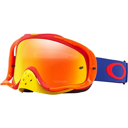 90fa2185bf Image Unavailable. Image not available for. Color  Oakley Crowbar MX Adult  Off-Road Motorcycle Goggles Eyewear - Blue Red ...