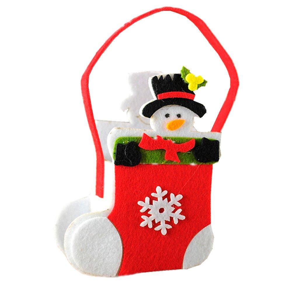 WILLTOO Cute Christmas Candy Bead Storage Bag Decoration Santa Claus Gift Storage (C, 208cm/(7.9''3.1''))