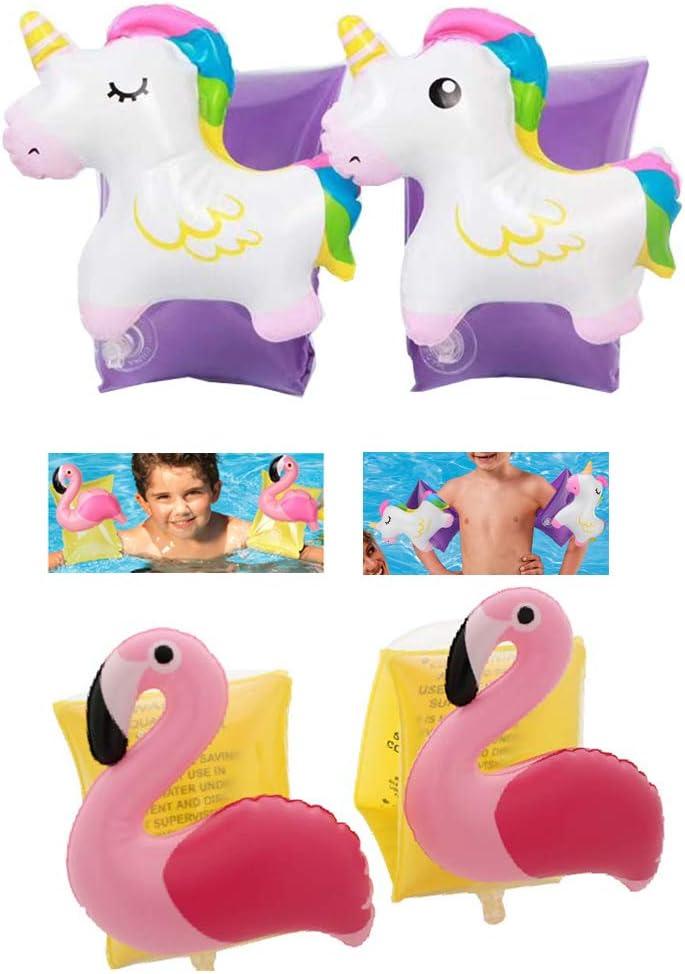 Supercat Bandas inflables para Brazos de Unicornio Bote para niños Mangas inflables Nadar Círculo Brazaletes Juguete de la Piscina para niños Niños pequeños Infantes 2-8 años